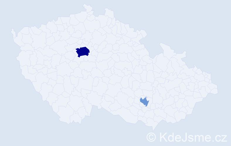 Příjmení: 'Abramson', počet výskytů 9 v celé ČR