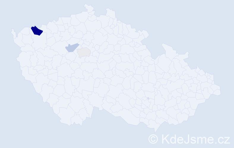 Příjmení: 'Hotovičková', počet výskytů 5 v celé ČR