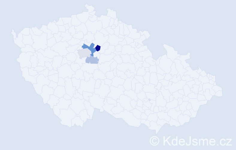 Příjmení: 'Lážková', počet výskytů 12 v celé ČR