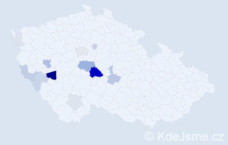 Příjmení: 'Houlík', počet výskytů 51 v celé ČR