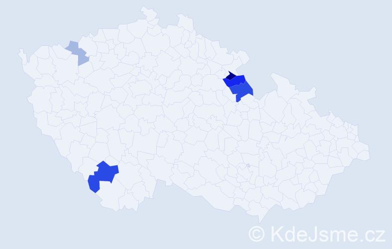 Příjmení: 'Fendrštát', počet výskytů 11 v celé ČR