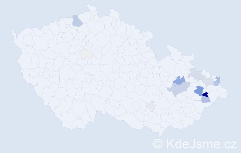 Příjmení: 'Ďurajka', počet výskytů 22 v celé ČR
