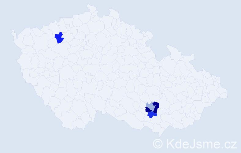 Příjmení: 'Greiffenegg', počet výskytů 7 v celé ČR