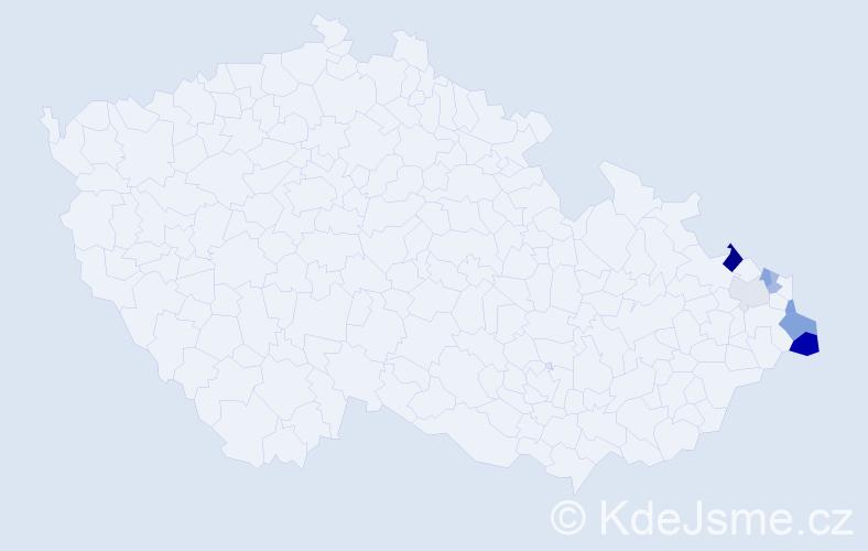Příjmení: 'Gorgoszová', počet výskytů 12 v celé ČR