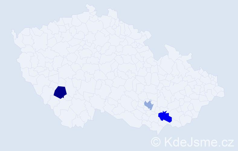 Příjmení: 'Csuportová', počet výskytů 3 v celé ČR
