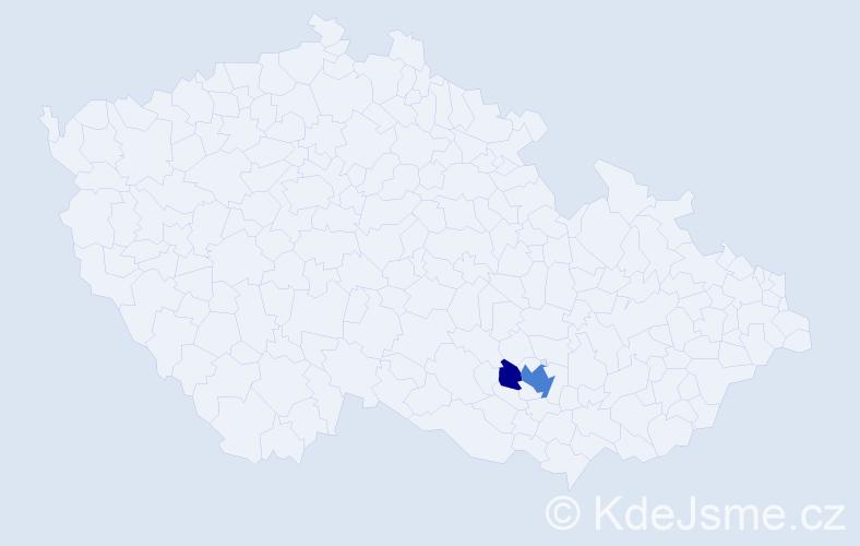 Příjmení: 'Košir', počet výskytů 6 v celé ČR