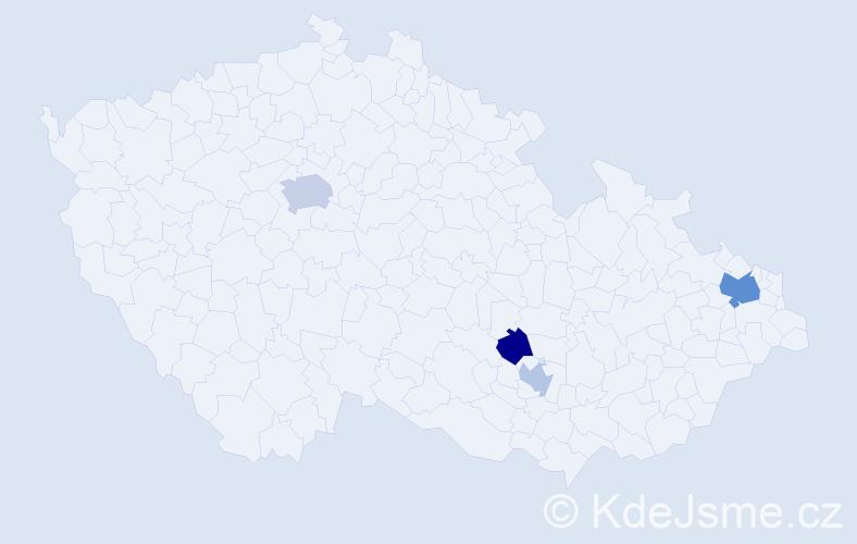 Příjmení: 'Grabica', počet výskytů 7 v celé ČR