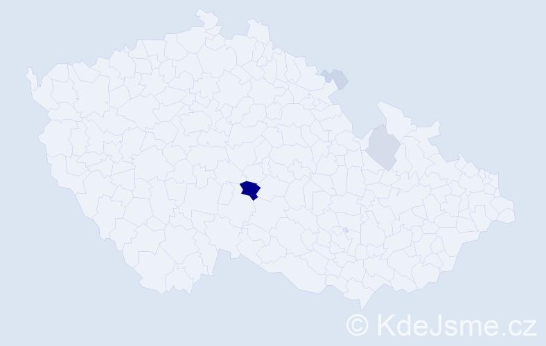 Příjmení: 'Eremková', počet výskytů 17 v celé ČR