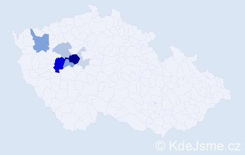 Příjmení: 'Filčák', počet výskytů 20 v celé ČR
