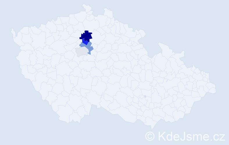 Příjmení: 'Güllichová', počet výskytů 5 v celé ČR