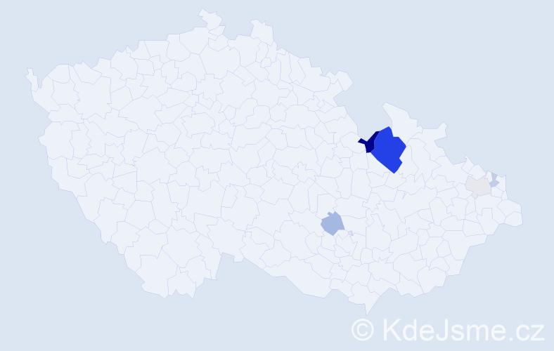 Příjmení: 'Gábler', počet výskytů 15 v celé ČR
