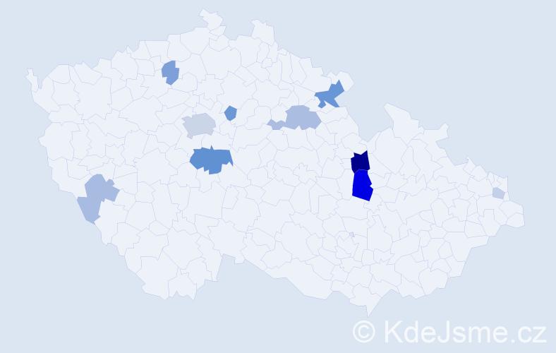 Příjmení: 'Langhamer', počet výskytů 25 v celé ČR