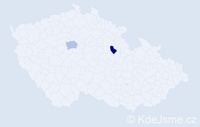 Příjmení: 'Hamdanová', počet výskytů 6 v celé ČR