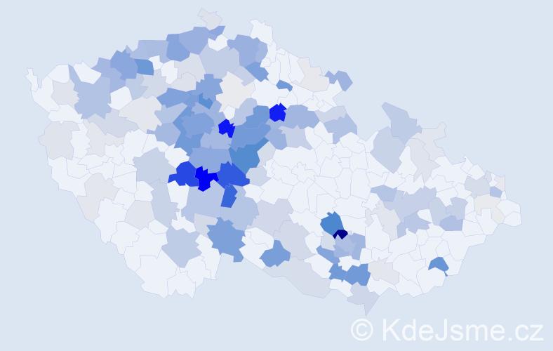 Příjmení: 'Havlín', počet výskytů 645 v celé ČR