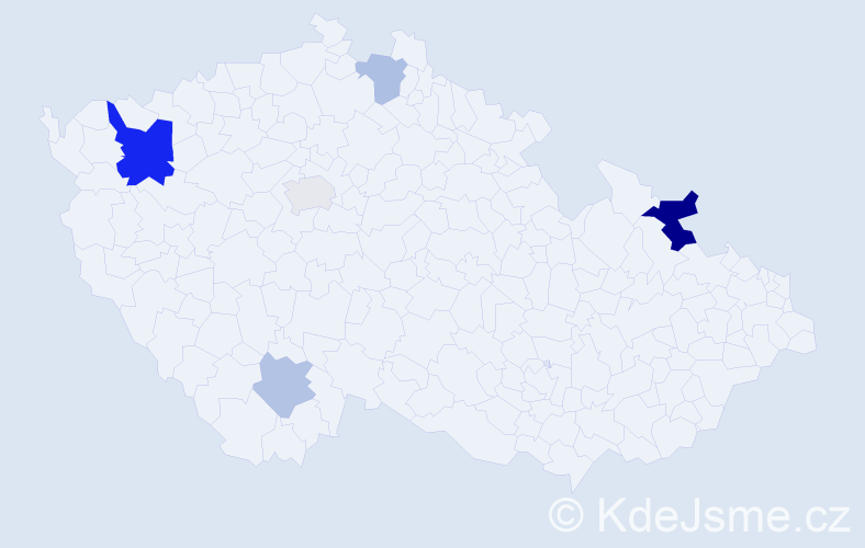 Příjmení: 'Ehlich', počet výskytů 10 v celé ČR