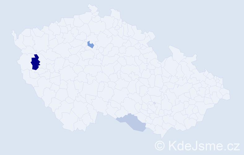 Příjmení: 'Jochacyová', počet výskytů 4 v celé ČR