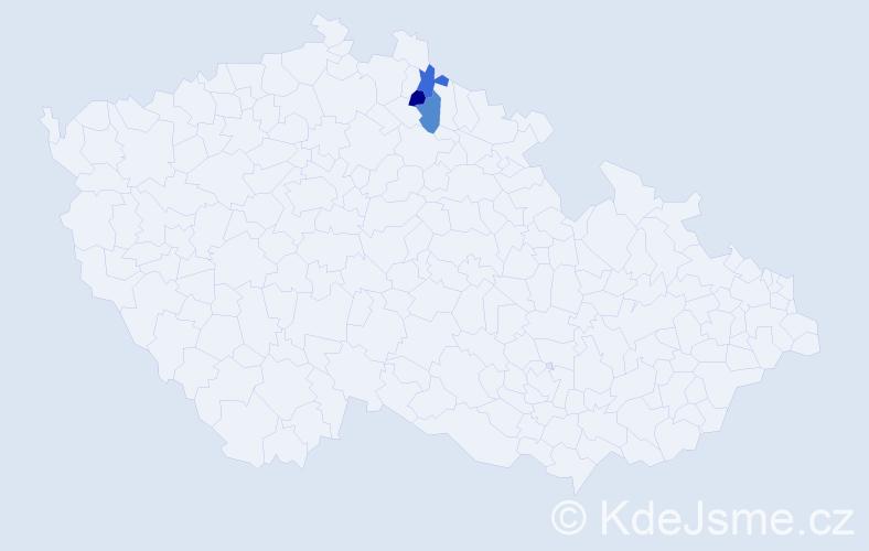 Příjmení: 'Bismilerová', počet výskytů 3 v celé ČR