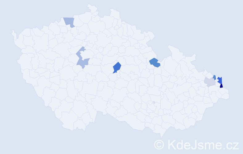 Příjmení: 'Charwotová', počet výskytů 11 v celé ČR