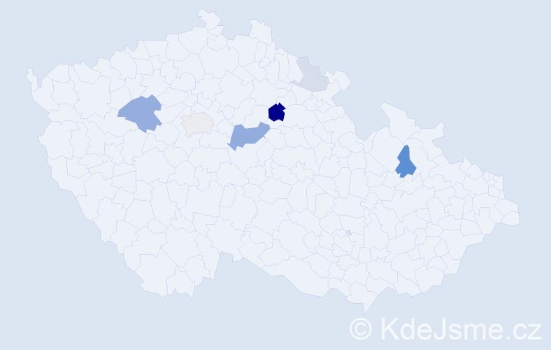 Příjmení: 'Ikrényi', počet výskytů 17 v celé ČR