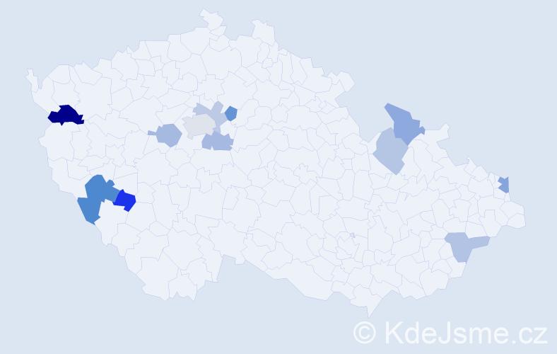 Příjmení: 'Harčarík', počet výskytů 19 v celé ČR