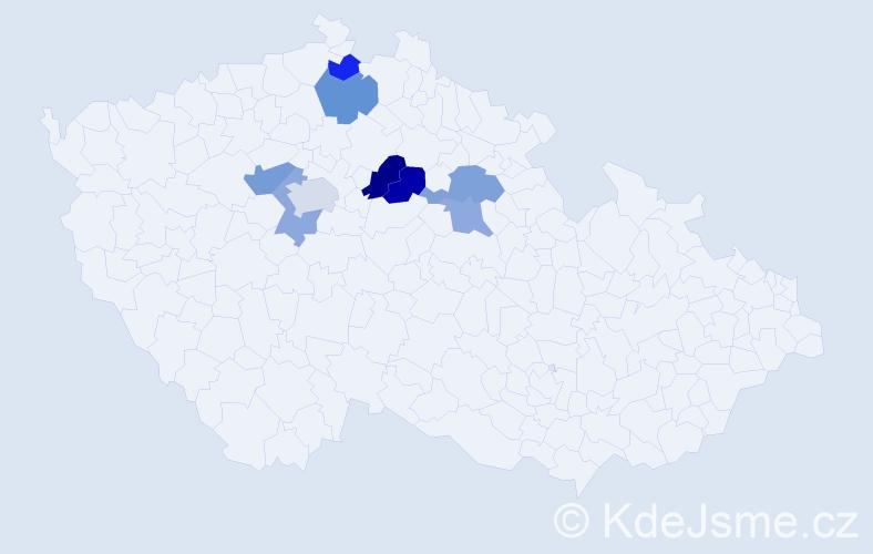 Příjmení: 'Fiferna', počet výskytů 26 v celé ČR