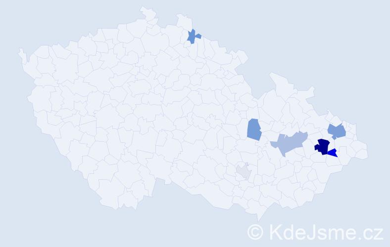 Příjmení: 'Koblovská', počet výskytů 20 v celé ČR