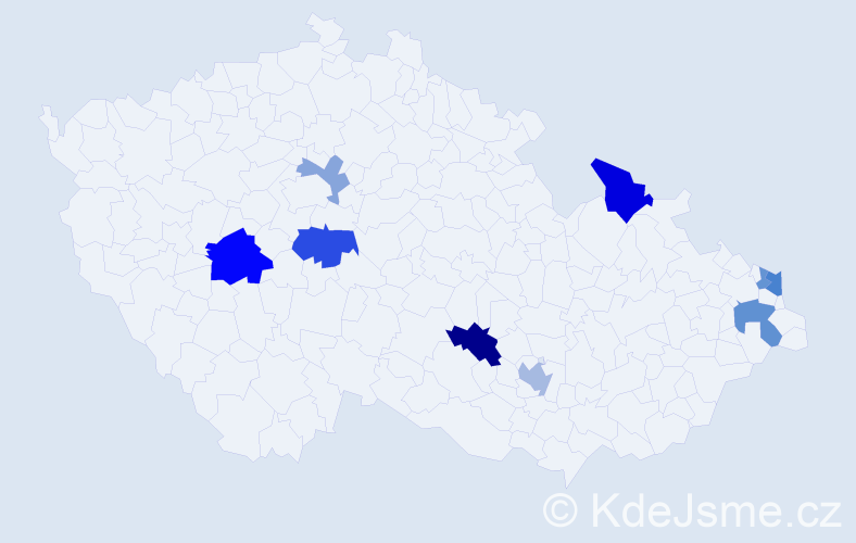 Příjmení: 'Čižmariková', počet výskytů 17 v celé ČR
