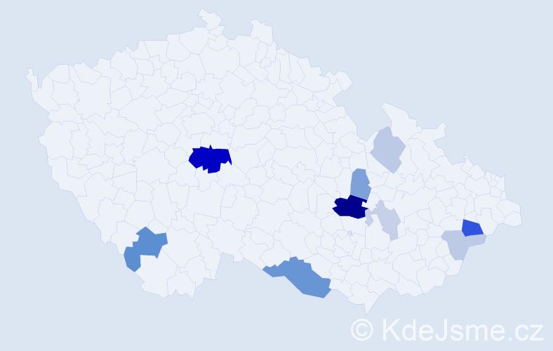 Příjmení: 'Lajšnerová', počet výskytů 27 v celé ČR