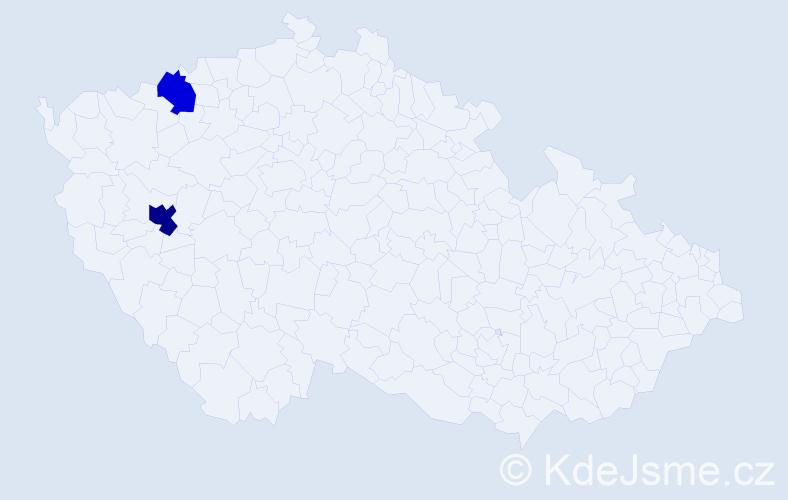 Příjmení: 'Fazlić', počet výskytů 3 v celé ČR