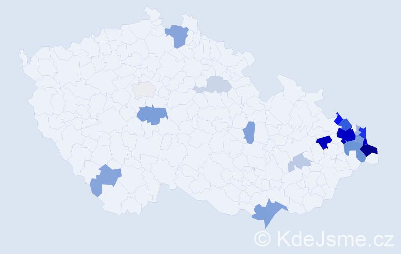 Příjmení: 'Buryová', počet výskytů 68 v celé ČR