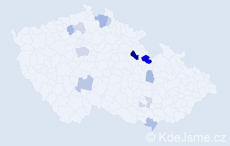 Příjmení: 'Hernych', počet výskytů 36 v celé ČR