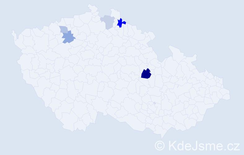 Příjmení: 'Gazsóová', počet výskytů 8 v celé ČR