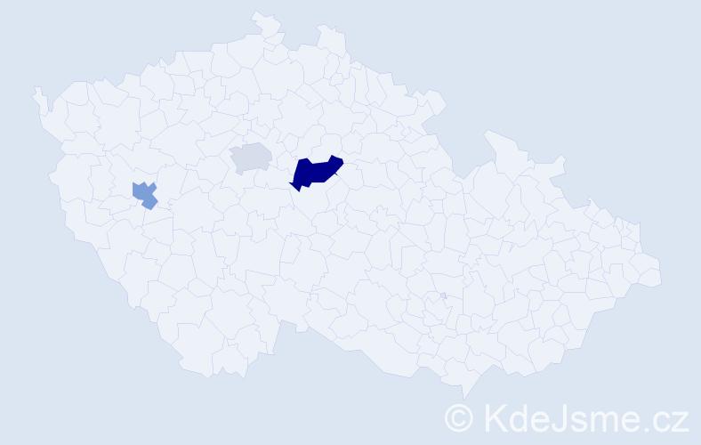 Příjmení: 'Habigtová', počet výskytů 4 v celé ČR