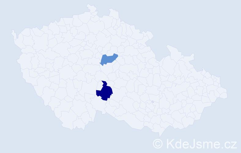 Příjmení: 'Kampeová', počet výskytů 5 v celé ČR