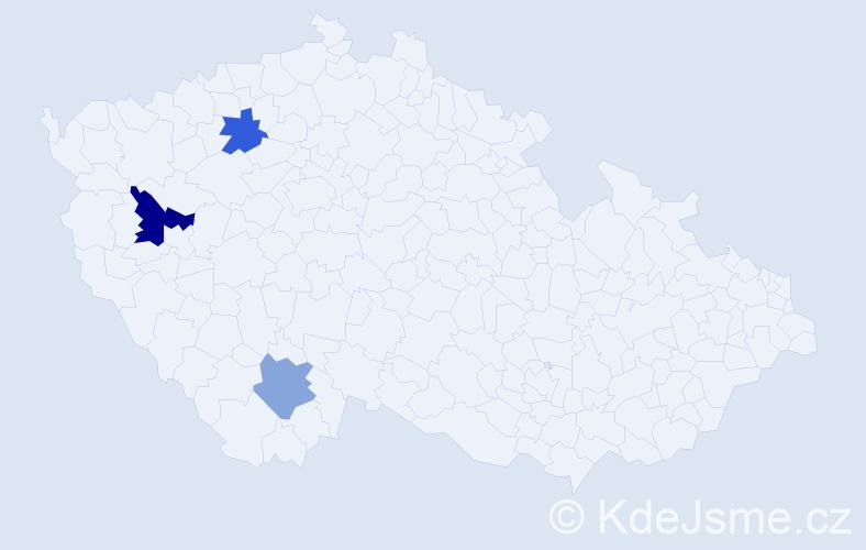 Příjmení: 'Fleišhansová', počet výskytů 4 v celé ČR