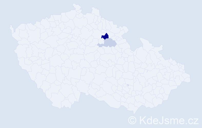 Příjmení: 'Landmesserová', počet výskytů 3 v celé ČR