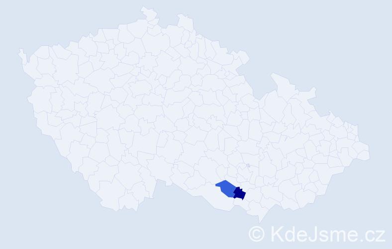 Příjmení: 'Gasgeb', počet výskytů 6 v celé ČR