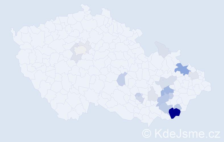Příjmení: 'Flasarová', počet výskytů 77 v celé ČR