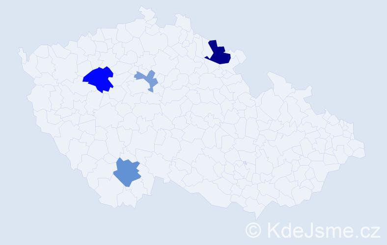Příjmení: 'Duschek', počet výskytů 8 v celé ČR