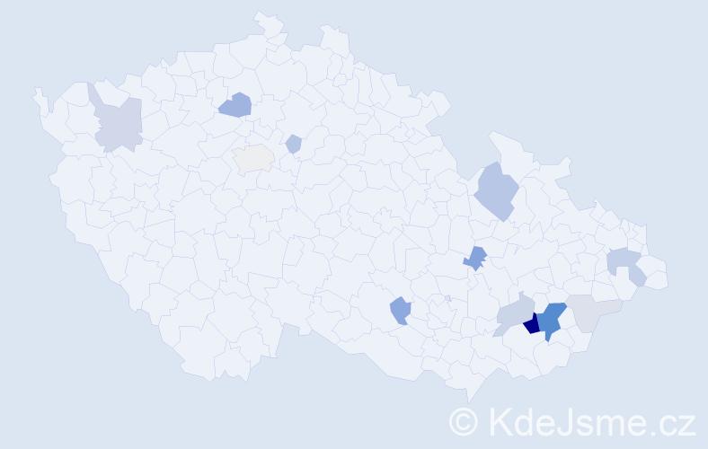 Příjmení: 'Landsfeld', počet výskytů 45 v celé ČR