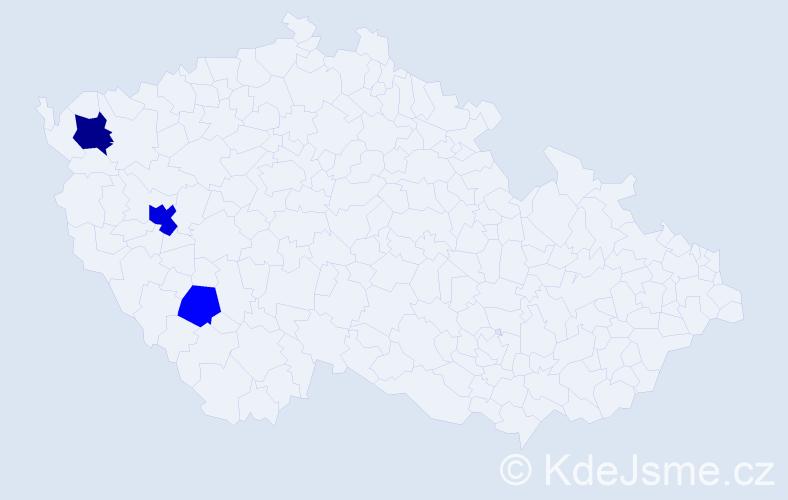 Příjmení: 'Bedák', počet výskytů 6 v celé ČR