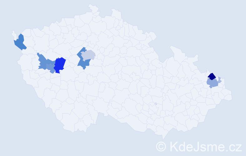 Příjmení: 'Desortová', počet výskytů 46 v celé ČR