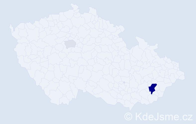 Příjmení: 'Eidová', počet výskytů 4 v celé ČR