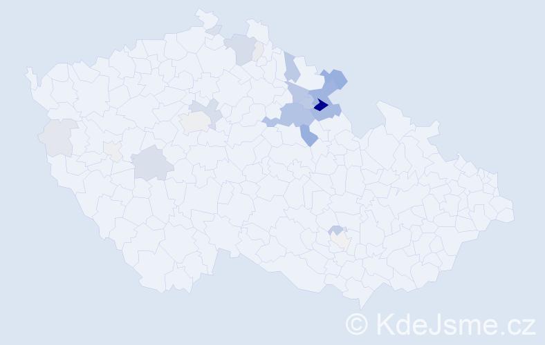 Příjmení: 'Kumprecht', počet výskytů 80 v celé ČR