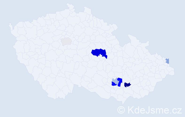 Příjmení: 'Gartšík', počet výskytů 12 v celé ČR