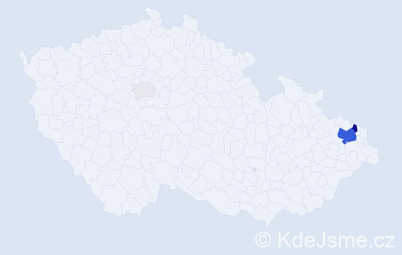 Příjmení: 'Chvostkěvičová', počet výskytů 11 v celé ČR