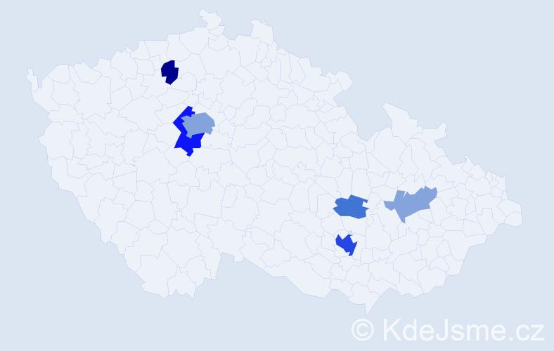 Příjmení: 'Cohen', počet výskytů 34 v celé ČR