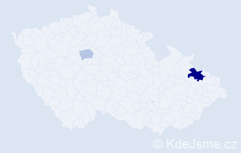 Příjmení: 'Ghiberti', počet výskytů 2 v celé ČR