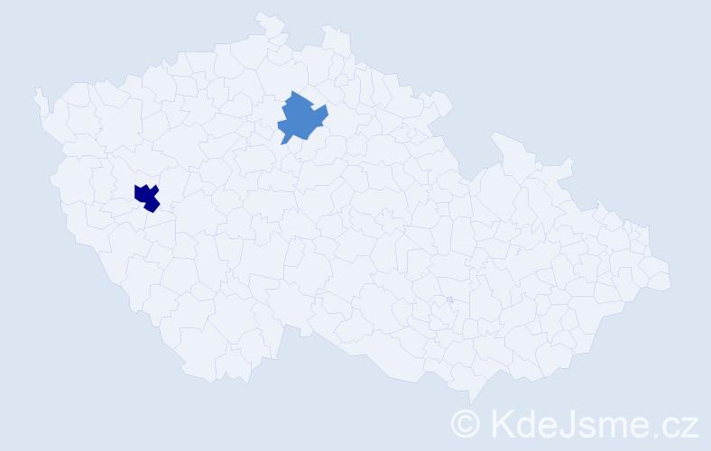 Příjmení: 'Csösz', počet výskytů 4 v celé ČR