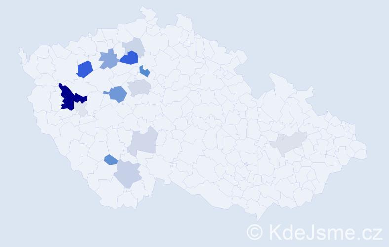 Příjmení: 'Eisenhamer', počet výskytů 42 v celé ČR